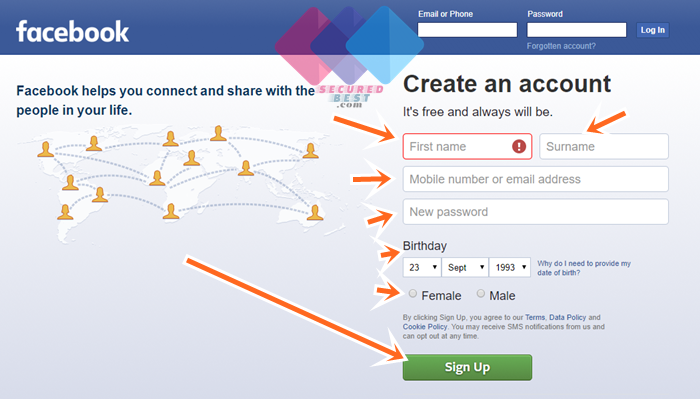 Facebook Account Sign Up Guide & FB Login on www.facebook.com