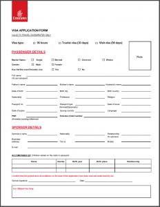 Download Emirates Visa Application Form For UAE Free