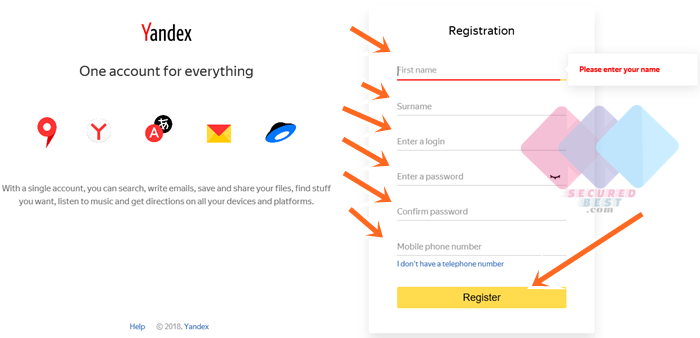 Yandex Mail Sign In with Free Email Signup Without Phone Number Verification