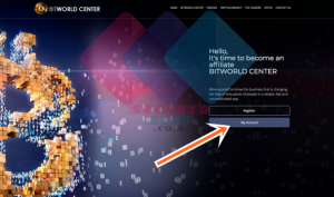 www.bitworldcenter.company Login Page for BITWORLD Center Users