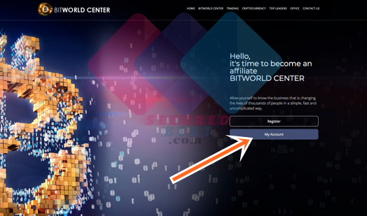 www.bitworldcenter.company Login Page for BITWORLD Center Users