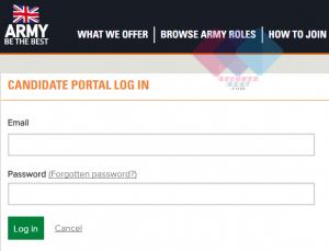 British Army Recruitment Portal for Registration & Login