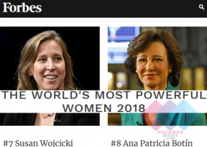 2018 World's Most Powerful Women List by Forbes