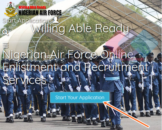 Nigeria AirForce Form Application 2019 Online at Nafrecruitment.airforce.mil.ng/