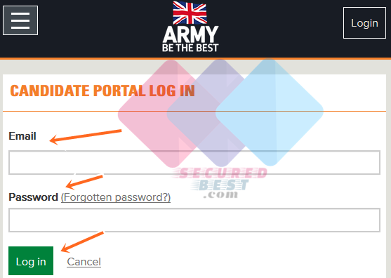 British Army Portal: British Army Login at apply.army.mod.uk/login