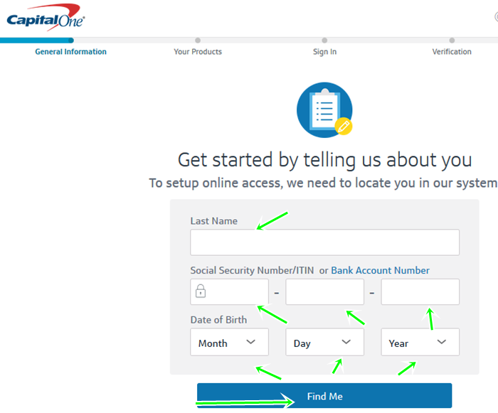 set up online access For capital one credit card sign in online
