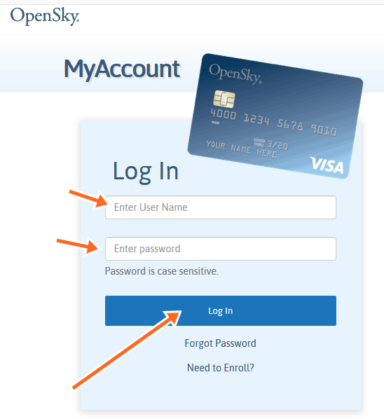 Open Sky Credit Card Payment Online, Login - Opensky CC Make Payment