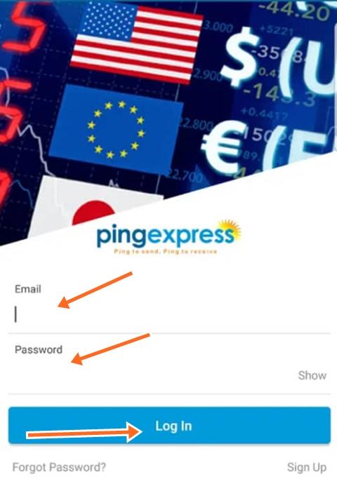 Ping Express Login