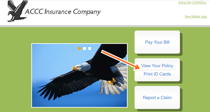 ACCC Auto Insurance Pay Bill Online at www.drivewiththeeagle.com Login