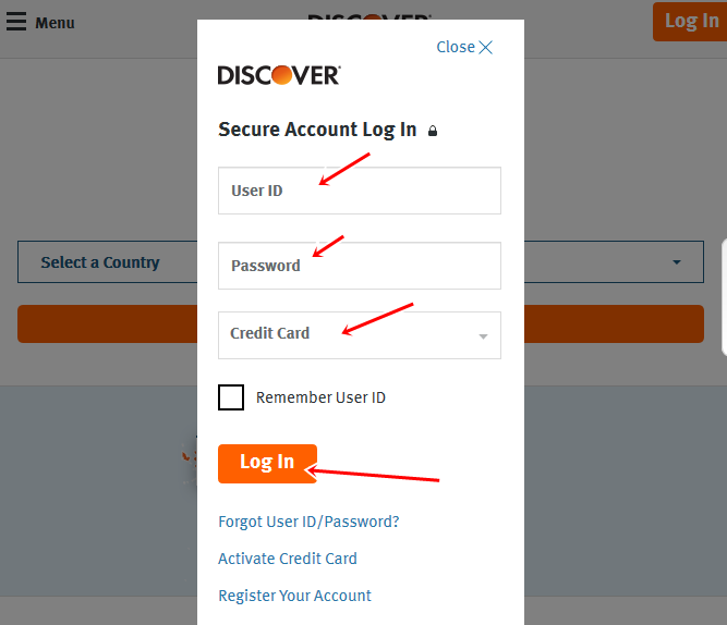 Discover Card In Spain Sign In at www.discover.con Secure Account Log In