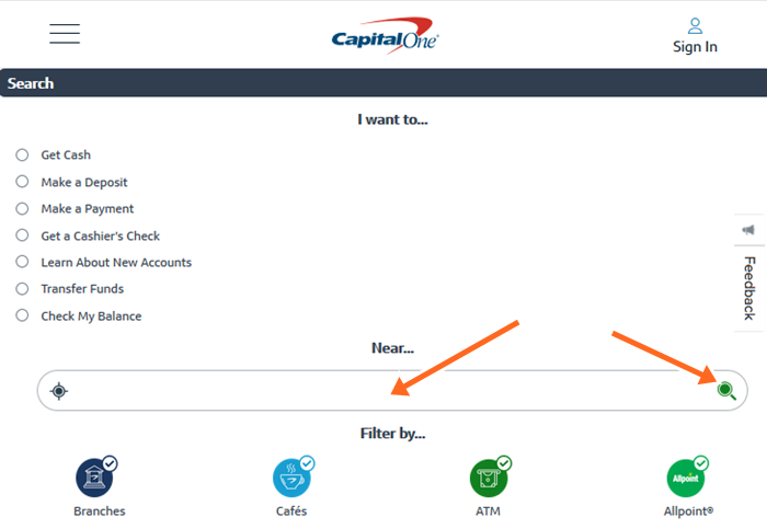 Capital One Locations Near Me - Check CapitalOne Bank/ATM Near Me