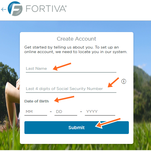 fortiva sign up