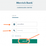 Merrick Bank Credit Card Login Payment Online at www.logon.merrickbank.com