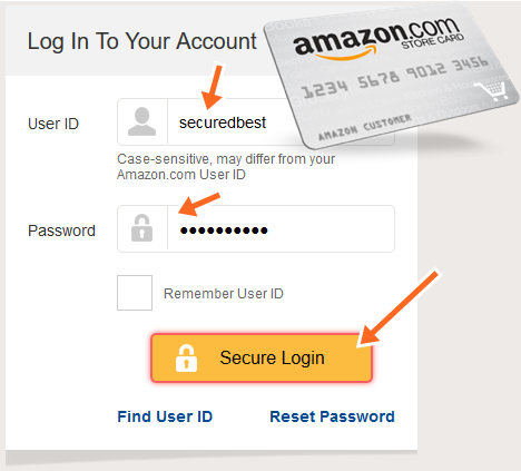 Amazon Store Card Payment Login at www.syncbank.com/amazon