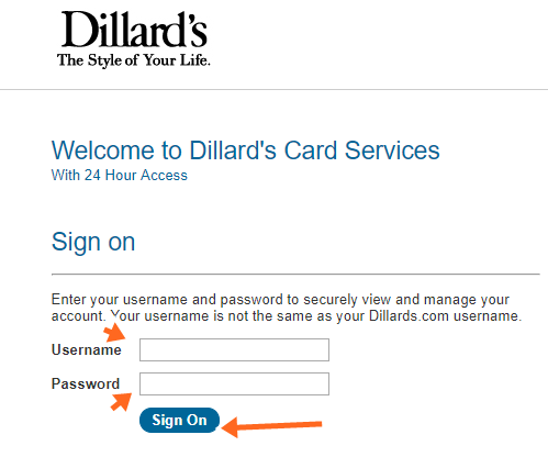 Dillards Credit Card Phone Payment, Mail and Online Bill Payment Login