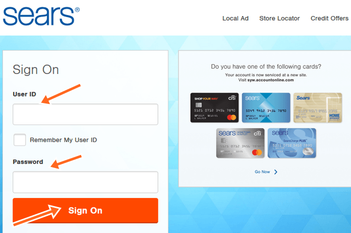 Sears Citibank Credit Card Login at citibankonline.com, Pay Your