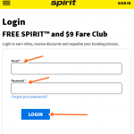 Spirit Credit Card Login at www.spirit.com/FreeSpiritLogin.aspx, Sign Up
