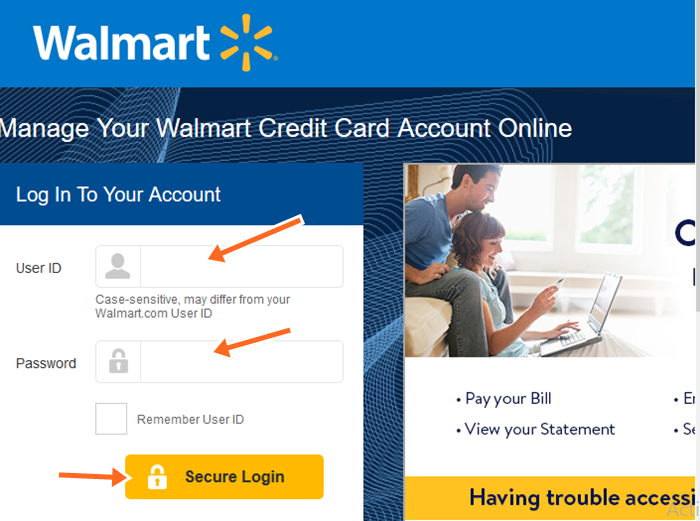 Walmart Credit Card Phone Number, Login Payment