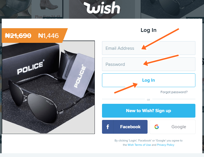 Wish Shopping Online Official Site Sign In