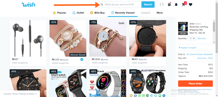 How To Shop from wish shopping online official site