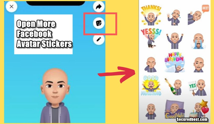 How To Open More Facebook Avatar Stickers - Access FB Avatar Emojis